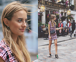 Sonya Esman - Finders Keepers The Label Dress, Asos Tie Up Heels, Chanel Bag, Asos Earrings - Floral expenses.