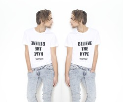 Ward M - Titi + The German Kid Hype Shirt, H&M Light Blue Jeans - The Hype Shirt by TTGK