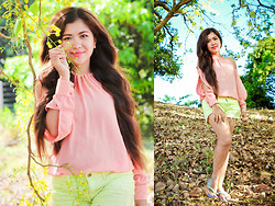 Cai Jm mix&match doll - Apartment8 Pink Off Shoulder - Be always bloomimg