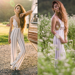 Jessica Wang - Sam Edelman Shoes, Faithfull The Brand Jumpsuit - CHASING THE SUN