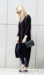 Miriam Mache - Gina Tricot Coat, Adidas Sneakers - I'll stop wearing black , when they create a darker color