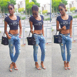 M.Betty's Soul -  - Boyfriend Jean & Crop Top