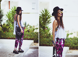 Sofia Reis - Choies Hat, Missguided Sunnies, Chicnova Top, Missguided Pants, Lamoda Bag, Lamoda Sandals - GIVE IT ALL