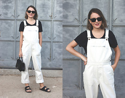 Trini Gonzalez - Ray Ban Sunglasses, Acne Studios T Shirt, Mhl Margaret Howell Dungarees, Anya Hindmarch Bag, Birkenstock Sandals - Summer 2014