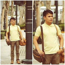 Bibo Bayona - Uniqlo Top, Bench Jeans, Kickers Shoes, Louis Vuitton Bag, Kenneth Cole Watch - The Journey