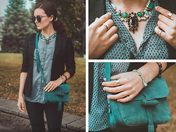 Katherine Adamenko - Bag, Lovelywholesale.Com Necklace, Glasses - Green light