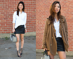 Christine Y - H&M Leather Skirt, Uniqlo Collared Shirt, Gucci Satchet, Zara Heels - Fresh after Work, Ready for Play