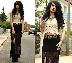 Tessa Diamondly - Somedays Lovin' Top, Lace Maxi Skirt - Final Masquerade.