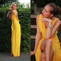Higinia ♥ - Michael Kors Watch, Tiffany & Co. Necklace, In Love With Fashion Dress - Yellow dress