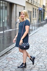 Paris Grenoble - Zara Dress, Sacha Cut Out Boots, Chanel Bag - Bubble bag
