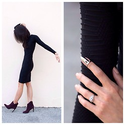 Tienlyn . - Dress, Boots, Nail Ring - Little Black Dress