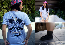 Jia Achacruz - Upperclass Clothing Co. Expedition Tee In Gray, House Of Holland Snapback - #TeamUpperclass
