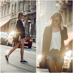 Katarina Vidd - Young Hungry Free Blazer, All Items On My Blog - Cut offs.