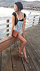 Michelle Pan - Diy Lace Crop Top, Vintage Tooled Leather Bag, Mia Cage Wedges - A Familiar Mystery