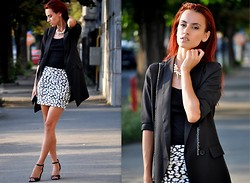 I dare you To be fashion - Sheinside Jacket - Black jacket