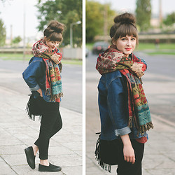 Maddy C -  - Colorful scarf.