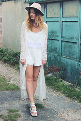 Leigh Travers - Oh My Love Kimono, Oh My Love Playsuit - White On White On White