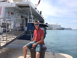 Nicola Bertini - Zara Shorts, Napapijri Polo, Tom Tailor Watches - Port, Croatia and I