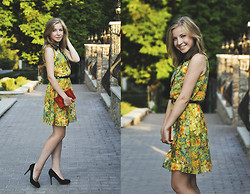 Natalie Savchenko - Atmosphere Dress, Choies Clutch - Floral dress