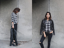 Miu N - Cubus Shirt, Burberry Jacket, Nike Shoes, H&M Belt, Cubus Jeans - Closer