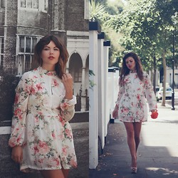 Georgina Walker - Desire Clothing Playsuit, Christian Dior Make Up - Endless florals