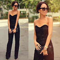 Paris Sue - Moschino Earrings, Prada Sunnies, Persun Heels, Michael Kors Bag - Addicted To Black