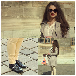 Aneta Leskova - H&M Sunglasses, Kotton Blause, H&M Shoes, Gate Pants, Camicie Outewear, Carpisa Wallet - Comeback in Vienna