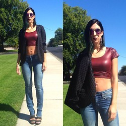 Dré M - H&M Blazer, Forever 21 Cropped Top, H&M Jeans, Bcbg Heels, Old Navy Sunglasses -   Embracing the Change
