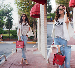 Viktoriya Sener - Sheinside Blazer, Zara T Shirt, M2f Jeans, Zara Bag, Mango Sandals, Zerouv Sunnies - KEEP IT CASUAL