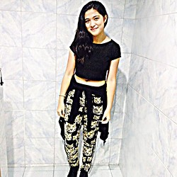 Jen Liwanag - Croptop, Jogger Pants, Longsleeves, Converse Shoes -