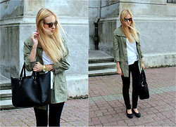 Blonde all around . - Zara Bag, Vero Moda Parka, Cheap Monday Black Skinny Jeans - Cheap Monday skinny jeans
