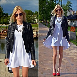 Magia Sióstr - Tbsport White Dress, Eokulary Sunglasses, Coshe Necklace - White lady