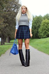 Julie W - Alexander Wang Vest, H&M Skirt, Givenchy Boots, Céline Bag - Feels like fall
