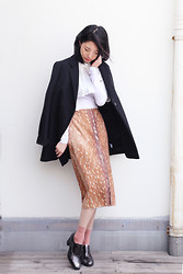 Evan L - Even Vintage Cropped Shirt, Carven Leopard Print Skirt, Proenza Schouler Black Blazer - Fall is coming