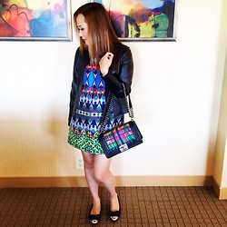 Isabelle - Chanel Boy Bag, J. Crew Dress, Miu Jewelled Flats, Natasha Leather Jacket, Cartier Watch -  All about the boy