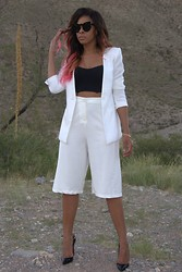 """Slim"" Shay D - Forever 21 Boyfriend Blazer, Aldo Sunnies, Christian Louboutin So Kate, Nasty Gal Tailored Shorts - Go With The Flow"