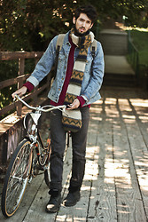 Bobby Raffin - Fossil Scarf, Big Star Denim Jacket, Timberland Boots - Climate Change
