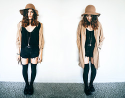 Sabina Olson - H&M Hat, Sheinside Trench Coat - Over my dead body #147