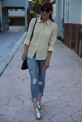 Adrienne KL - Equipment Blouse, Frame Denim Janes, Sam Edelman Shoes - Fall Ready