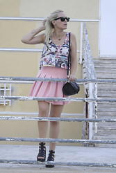 Doll Actitud Sabrina - Zara Crop Top, Zara Skirt, Zara Bag, Zara Sandals - Always Pink