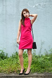 Dominique Marie Tiu - The Clothing Hub Fuchsia Dress, Céline Black Trio, Mango Black Pumps - Songs of Innocence