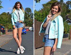 Anna - Missguided Jacket - Mint biker