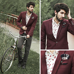 Bobby Raffin - Wholesale7 Wine Fitter Blazer, Wholesale7 Romantic Button Up - Save the date