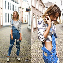FEEblog - One Teaspoon Dungarees, One Teaspoon Striped Tee - Tomboys are the sweetest