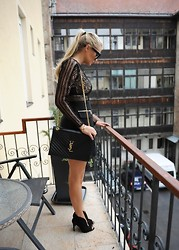 Masa Merc -  - Black lace dress and nothing else!