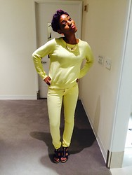 Jhodi-Ann G - Gap Jeans, Banana Republic Sweater, Forever 21 Necklace, Michael Kors Wedges - Mellow Yellow