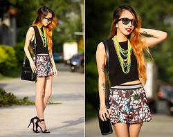 Wicked Ying NEW - Pinkaholic Cropped Top, Zara Frill Shorts, Maxene's Closet Sling Bag, Ray Ban Classic Wayfarer - Not Today