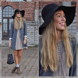 Triinu Ollema - Vero Moda Dress, Old Navy Coat, H&M Hat, H&M Boots - Forgotten pieces