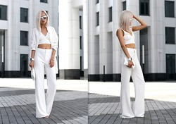 Da Li - Missguided Trousers, Missguided Blazer - White_Suit