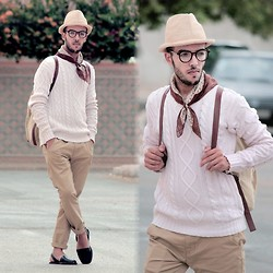 Faissal Yartaa - Hoodboyz Konrad Corduroy Back Men Bag Beige, Milanoo Cool Solid Color Cotton Fibers Straight Pants For Men, Riudavets Black - ONE DAY FROM 1979